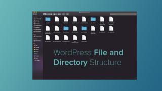 WordPress のフォルダ構成を画面表示する PHP サンプルプログラム